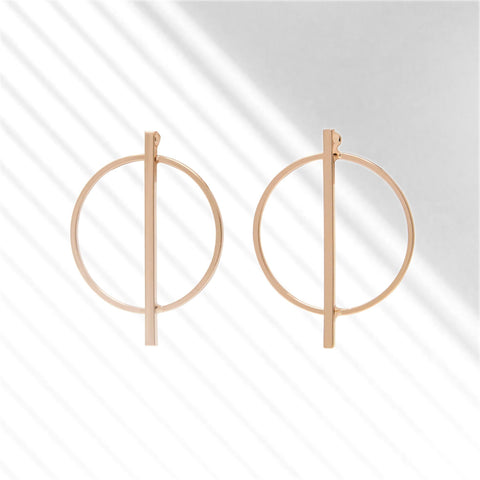 Bar Circle Earrings