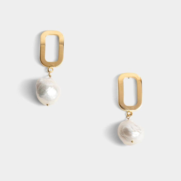 Alana Single Pearl Earrings