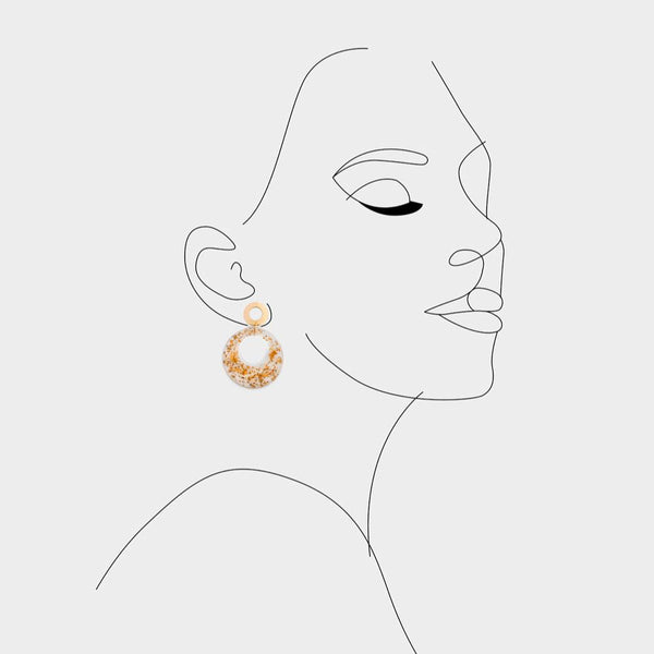 Avery Gold Foil Earrings