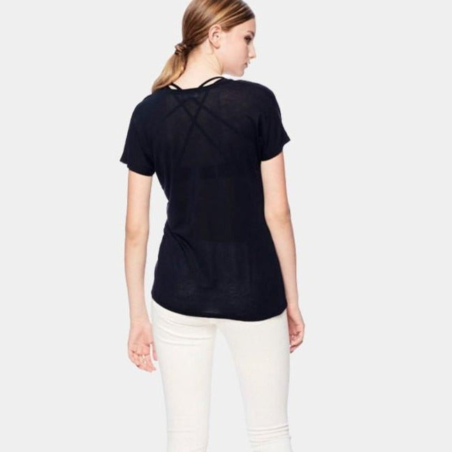 The Uneck Tee- Tencel. black, eco clothing, natural clothing, green clothing, luxury clothing, organic clothing, affordable clothing, eco friendly tee