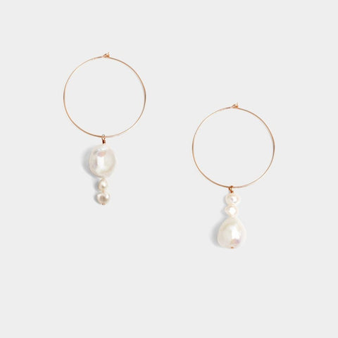 Ana Bar Disc Earrings