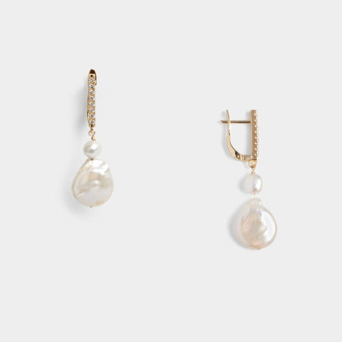 Avery C Coin Earrings