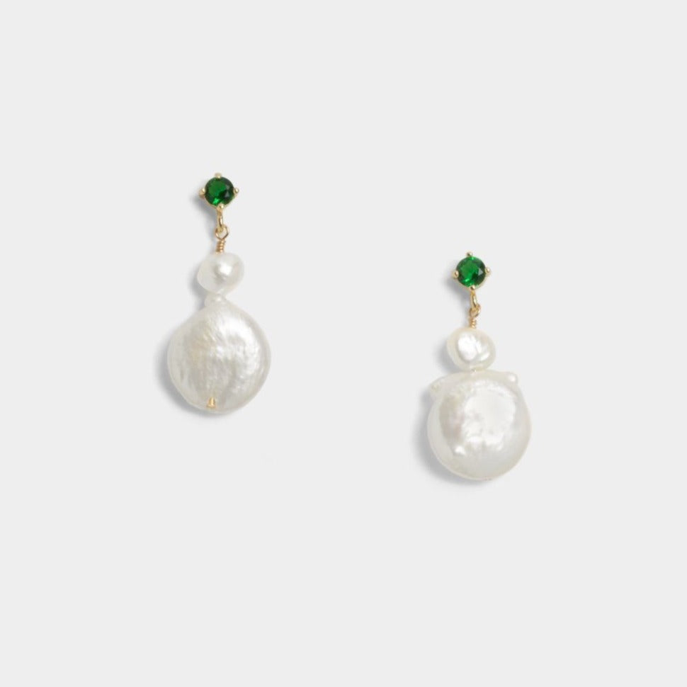 Aspen Twin Coin Earrings