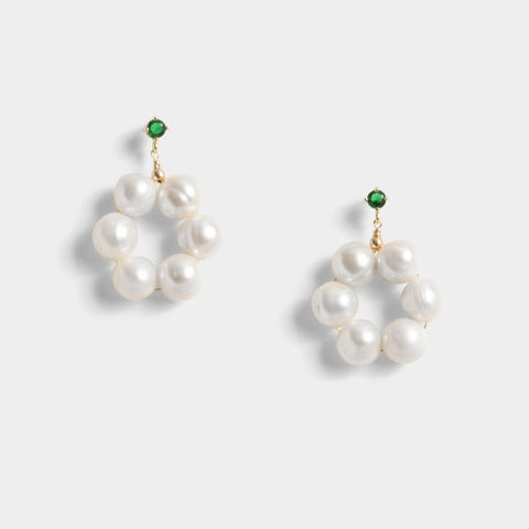 Rory in White Concrete Earrings