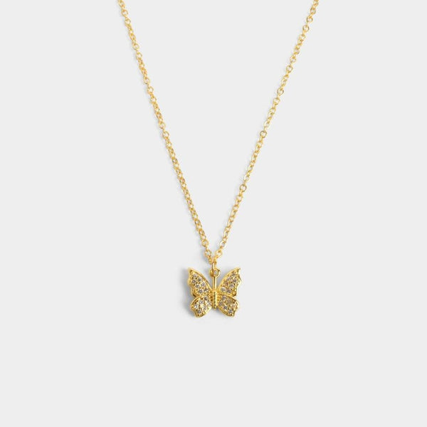 Holly Butterfly Necklace