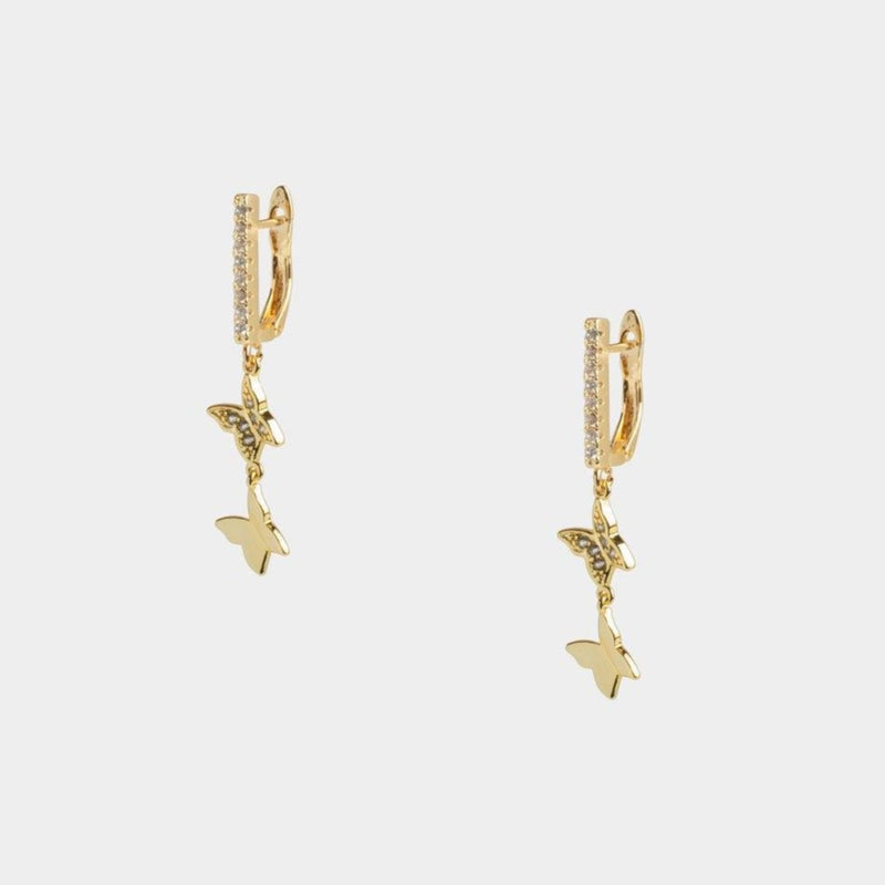 Ana Dangling Butterfly Earrings