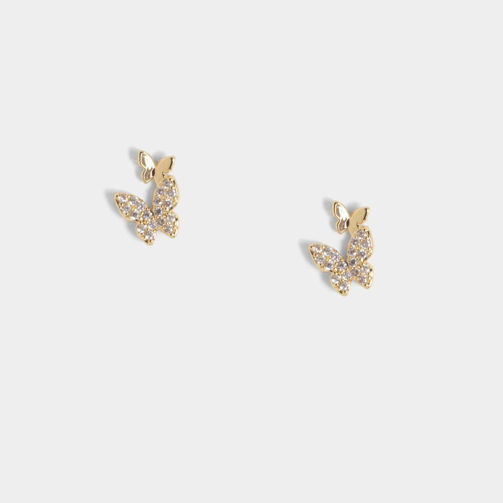 Tiny Twins Butterfly Studs