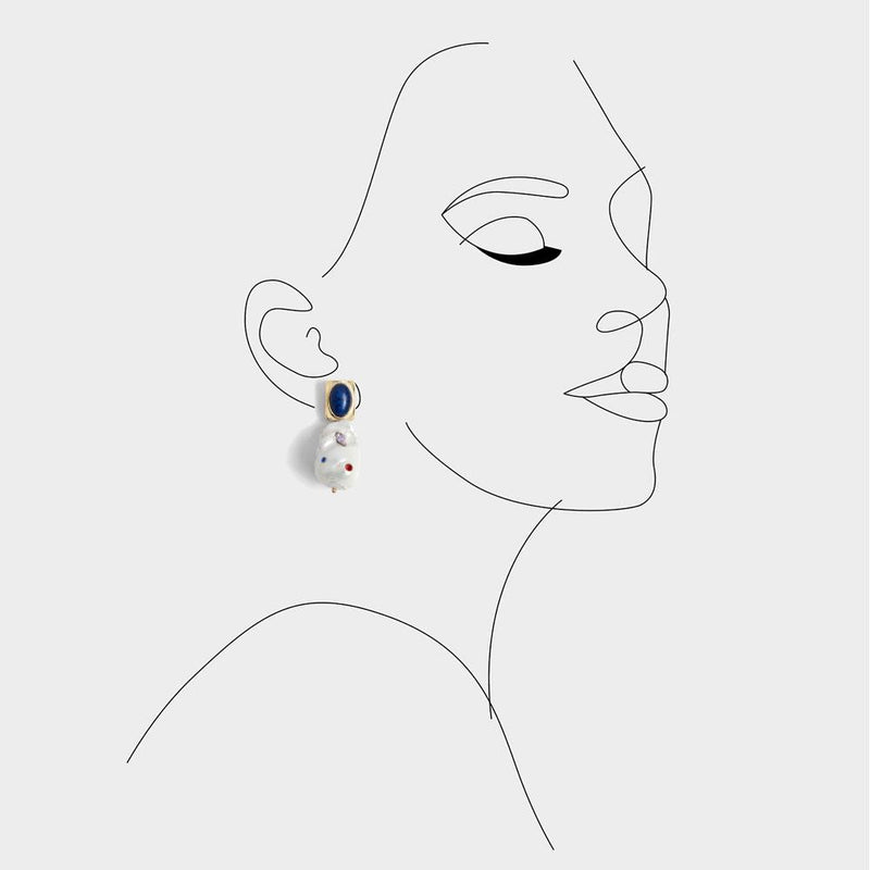 Birdie CZ Paved Earrings