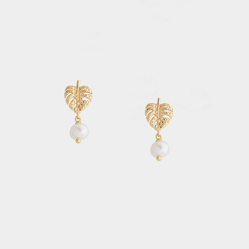 Monstera Tiny Earrings