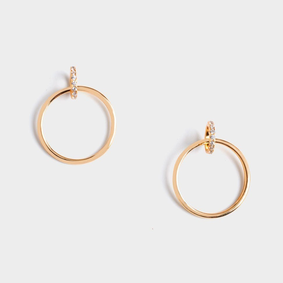 Christy Twins Circle Earrings