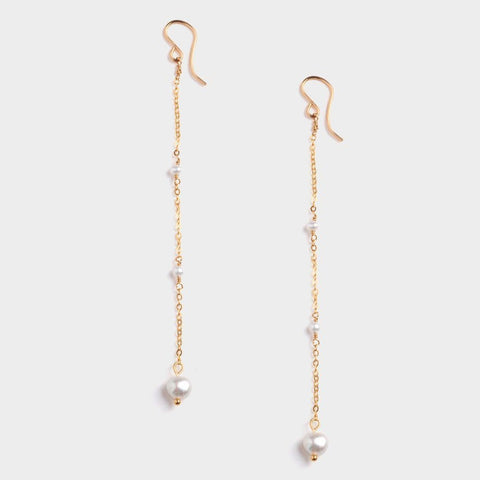 Ariel Dangling Earrings w/ Pearl