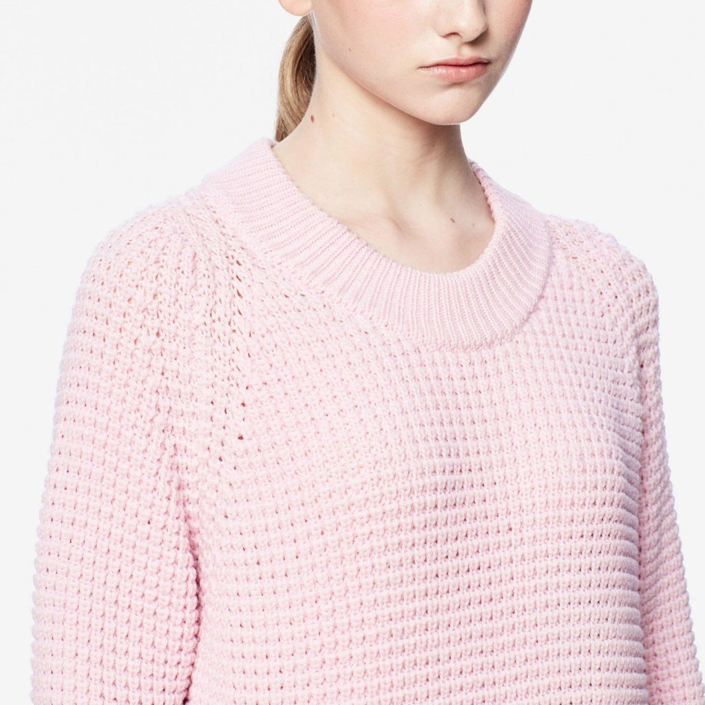 siizu. Pink sweater, Crew Neck Sweater, Merino Wool, eco clothing, natural clothing, green clothing, luxury clothing, organic clothing, affordable clothing, eco friendly sweater,