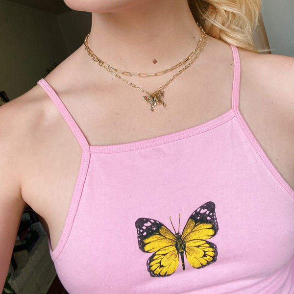 Painted Lady Butterfly Choker