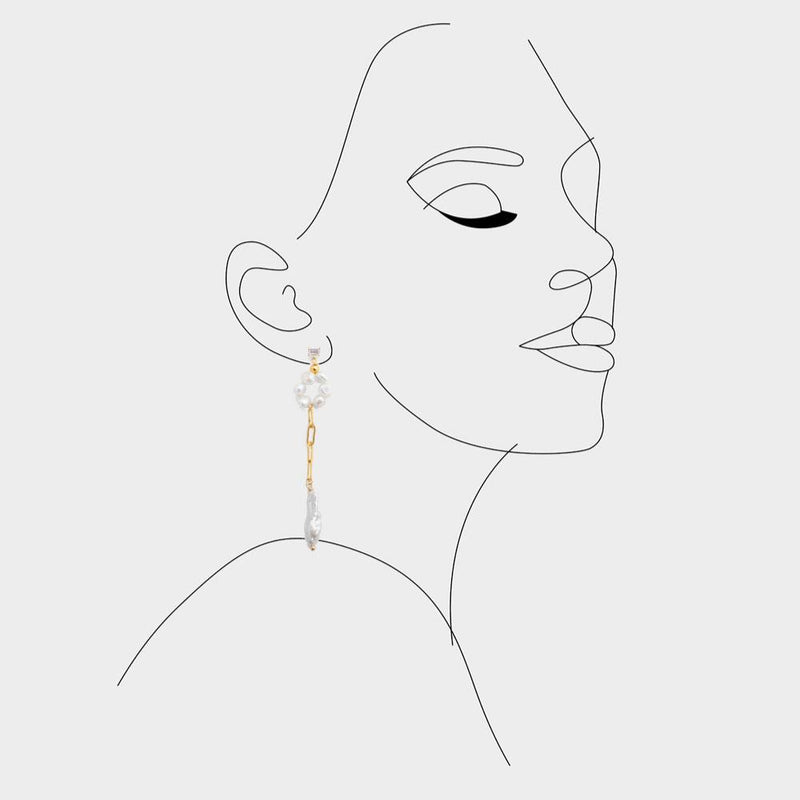 Bel hoop drop earrings