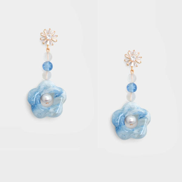 Bethany Drop Floral Earrings