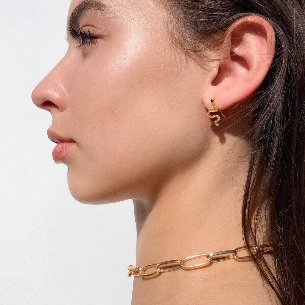 Snake Hoop Earrings