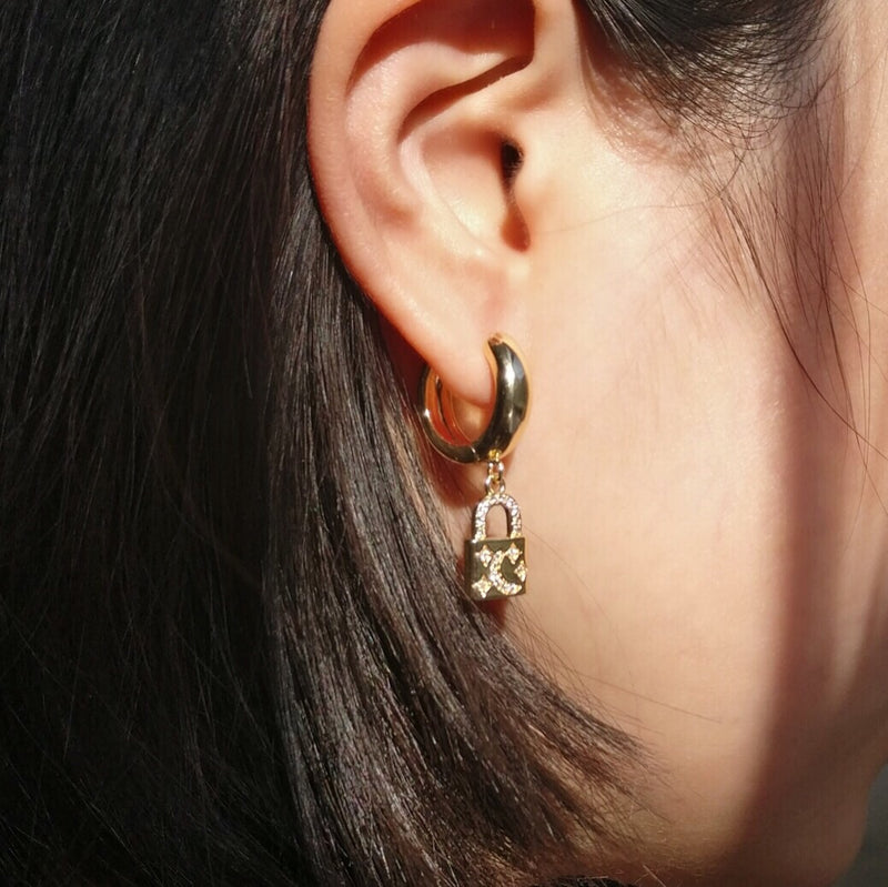 Moon Lock earrings
