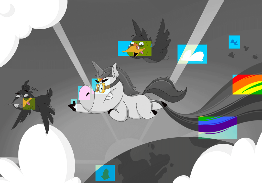 Spot the differences Flying unicorn - Validate your answers
