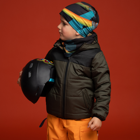 Flying Saucer - Soucoupes volantes under helmet beanie - coolest ski beanie for kids