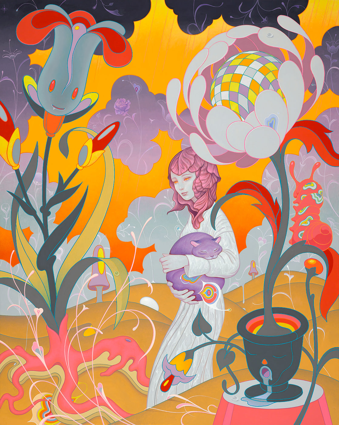 Discover James Jean Artwork, Schrodinger's kitten rescue painting, a Oil on canvas from 2018