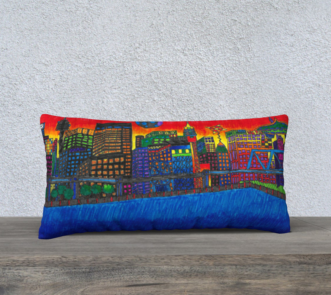 Imaginary to Reality Pillow cover by Leo Lajeunesse