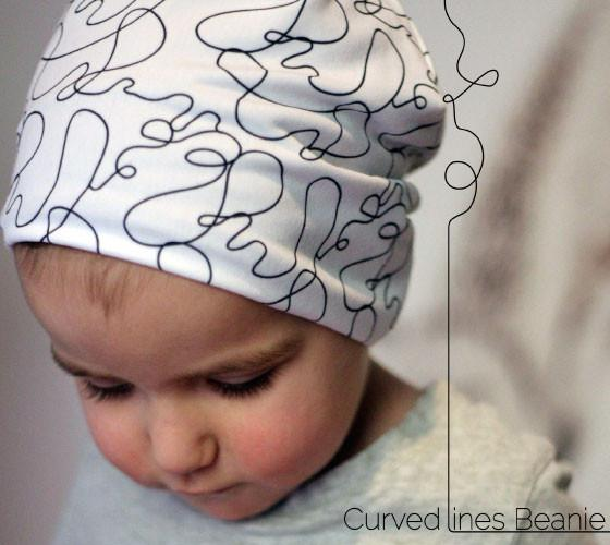 Curved Lines Beanie Hat