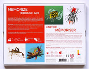 Back view of the Discover Bugs and Crawlies Memory Game. Learn through Art and Play! Discover the world around you with this educational memory game!