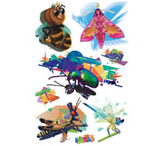 The Urban Bugs removable tattoos are part of an amazing collection of products designed by professional artists. These Real, Art Fake Tattoos are designed by Ankhone, a Canadian  muralist! You can also find these adorable littles bugs in our educational memory Game, Discover bugs and crawlies.
