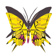 Cool children tattoos ! Close up of the yellow, with a touch of purple, butterfly temporary tattoo by Lalita's Art Shop