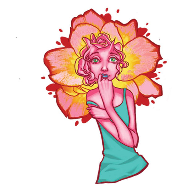 The flower girl from Lalita's Art Shop removable tattoo  Flower fairies collection illustrated by artist Ankhone.