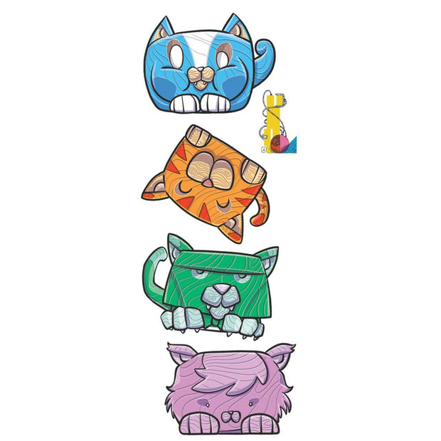 Discover this cool kids fake tattoo where you have to create your own cat totem pole ! We bring play in temporary tattoos!
