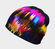 Lalita's Art Shop Some Things You Can't Explain Grow-with-me beanie is the perfect hat to wear season after season and under your helmet. This colourful tuque is breathable with its bamboo lining and super comfortable