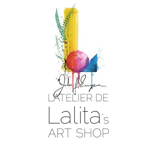 Every Lalita's Art Shop Artist has their own personalized logo, this is the one by professional tattoo artist, Julie L'Ecuyer