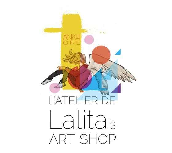 Collection illustrated by professional Street Artist Ankhone. This is his personalized Lalita's Art Shop logo.