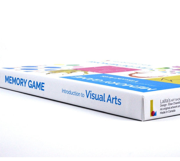 Detail of Lalita's Art Shop Memory Game: introduction to visual arts. Made in canada