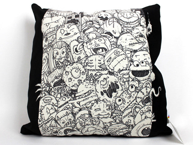 Monster Pillow Cover 18 x 18