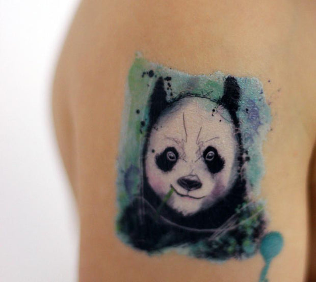 Watercolor Animals Temporary Tattoos