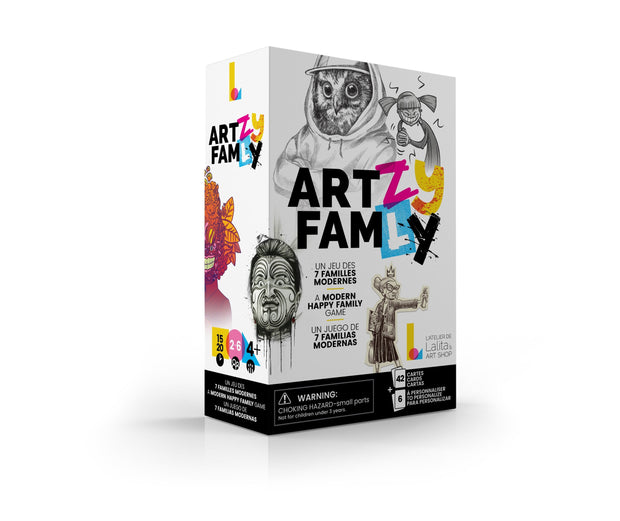 Pack of 6 cards to create our own ART•ZY FAM•LY