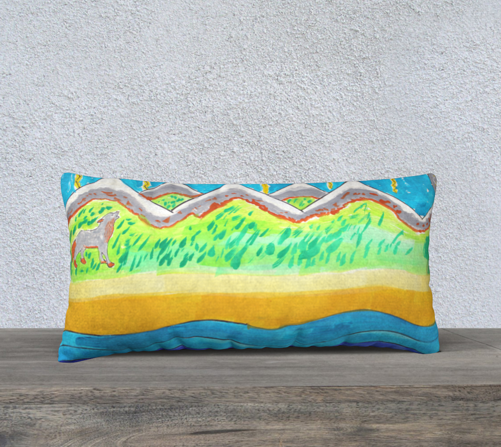 Imaginary to reality Pillow Cover by Frederic Galles