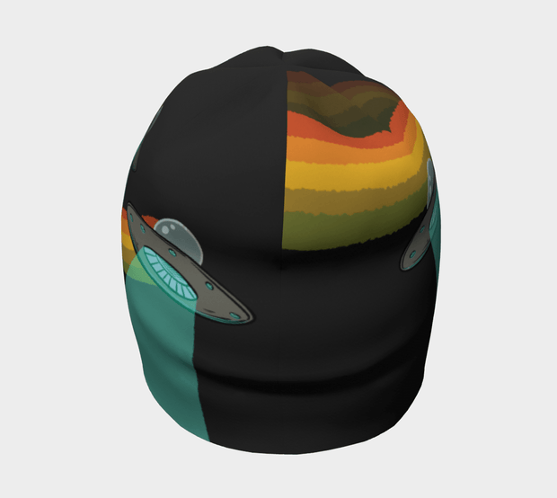 Back view of the Flying Saucers toque.