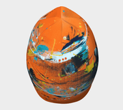 Top view of the original and coolest Orange beanie for children and adults by Lalita's Art Shop