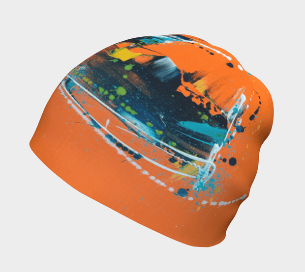 Right side view of the Orange tuque illustrated by the young and so talented artist Megane Fortin.