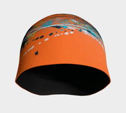 Front view of Abstract Orange Unisex Beanie.