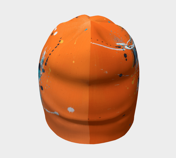 Back view of the Orange toque illustrated by artist Megane Fortin.