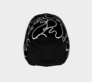 Curved lines Beanie Hat (Black)