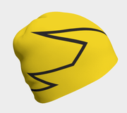 Lalita's Art Shop Broken line Grow-with-me beanie is the perfect hat to wear season after season and under your helmet. This Yellow and black tuque is breathable with its bamboo lining and super comfortable