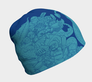 Lalita's Art Shop creates the coolest beanie collection for kids! This blue Knights and Dragons children beanie hat - left view
