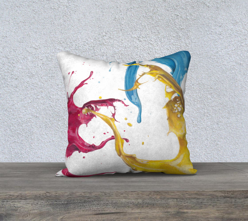 Primary and Secondary Colours Pillow Cover