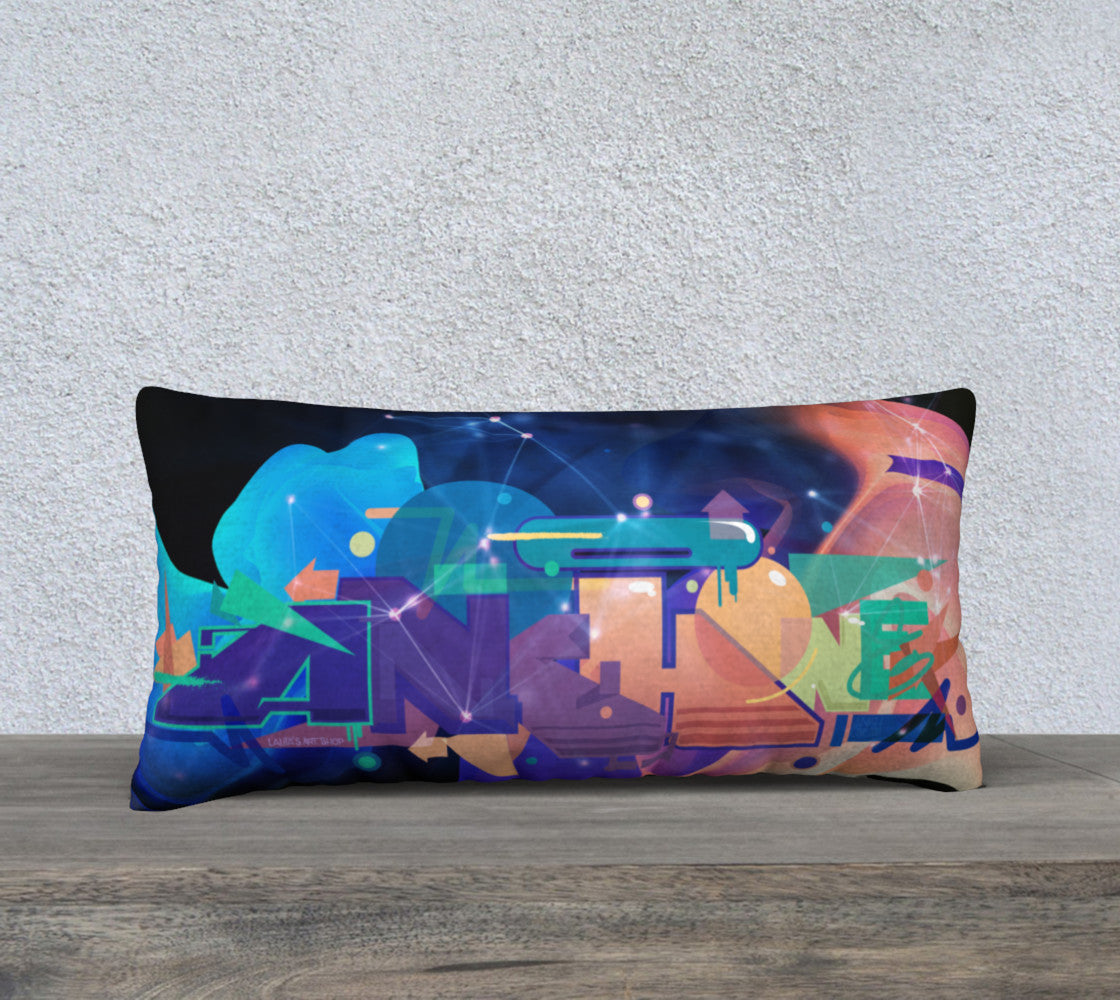 Galaxy Pillow Cover 24 X 12""