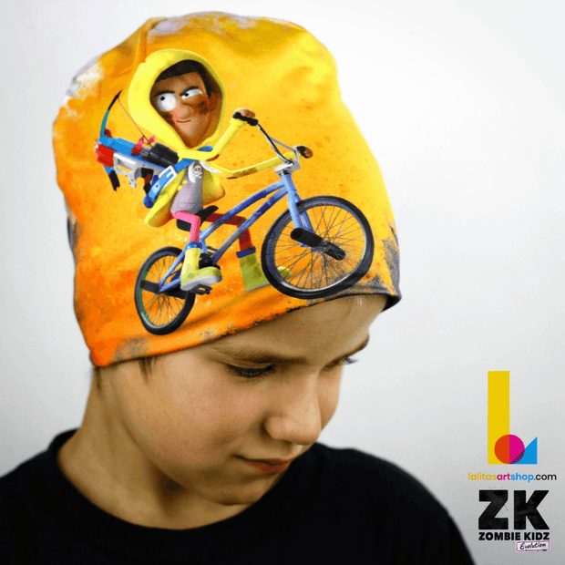 Zombie Kidz Hero On Bike Beanie